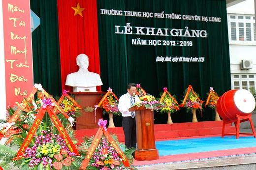 Trường THPT Chuyên Hạ Long khai giảng năm học mới 2015 -2016