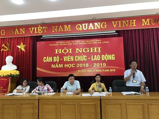 Hội nghị Cán bộ - Viên chức - Lao động năm học 2018-2019